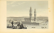 Mosque In The Coimbatore [also known as Kovai or sometimes spelt as Covai, is a major city in the Indian state of Tamil Nadu] .From the book ' The Oriental annual, or, Scenes in India ' by the Rev. Hobart Caunter Published by Edward Bull, London 1835 engravings from drawings by William Daniell