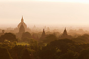 Temples and pagodas of the ancient city of Bagan in Myanmar