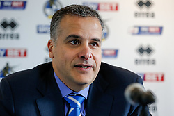 New club President Wael Al-Qadi speaks at a press conference. Bristol Rovers has been aquired by the Jordanian Al-Qadi Family who have taken a 92 percent stake in the club and appointed Steve Hamer as the club's New Chairman - Mandatory byline: Rogan Thomson/JMP - 07966 386802 - 19/02/2016 - FOOTBALL - Memorial Stadium - Bristol, England - Bristol Rovers New Owners.