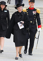Queen Margrethe of Denmark at the funeral of Grand Duke Jean of Luxembourg at Cathedral Notre-Dame of Luxembourg in Luxembourg City, Luxembourg on May 4, 2019. Photo by Papixs Press/ABACAPRESS.COM