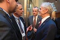 "25 MAY 2012, BERLIN/GERMANY:<br /> Hans-Juergen Huber (L), Vorsitzender der Geschaeftsleitung DuPont de Nemours, Philip Murphy (M), Botschafter der U.S.A. in Deutschland, und John Bryson (R), Secretary of Commerce, U.S.A., Global Business Dialogue ""Beyond Uncertain Times: A Growth Agenda"", axica Konferenzzentrum<br /> IMAGE: 20120525-02-093<br /> KEYWORDS: Hans-Jürgen Huber"