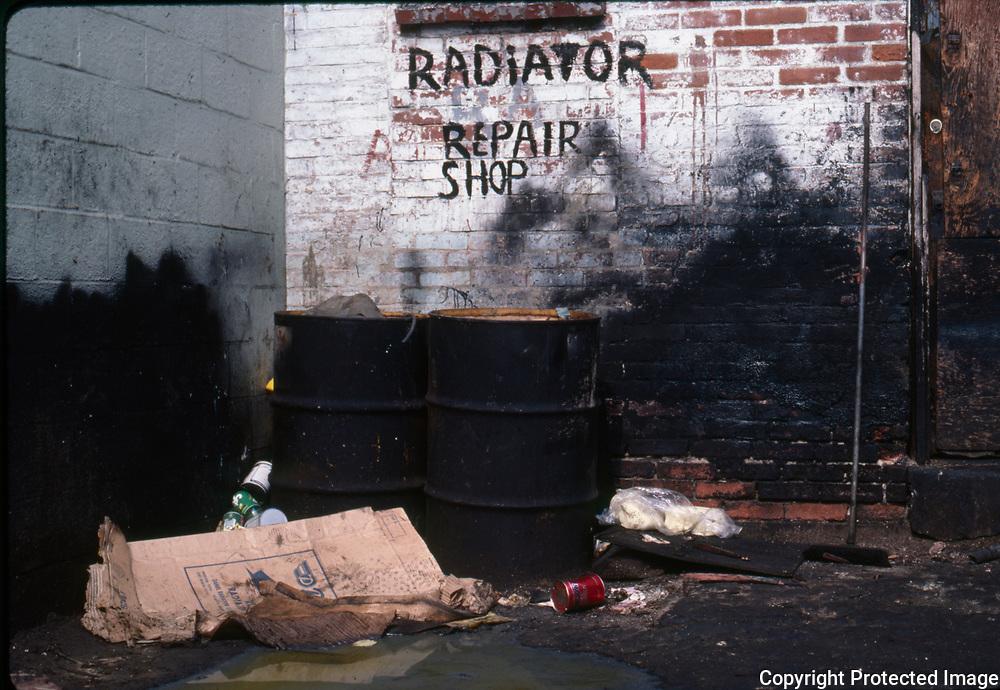 14th Street NW Washington DC, Alleyway, 1985
