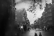 VIEW FROM THE UPPER DECK OF A BUS. Holborn, London.  21 November 2016