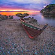 """This is a midnight sunset around 12 p.m. t was such a beautiful sunset that you can just dream about it.                        Korsvika is a small residential area of in the Lade neighborhood of Trondheim, Norway. Korsvika has several small beaches, and the Ladestien trail runs through the area. In Korsvika there is also a kindergarten named """"Korsvika barnehageI Please feel free to check my photos here or find me by: 