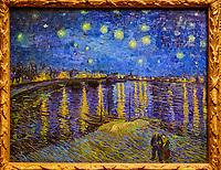 France, Paris (75), zone classée Patrimoine Mondial de l'UNESCO, Musée d'Orsay, La Nuit étoilée, Vincent Van Gogh // France, Paris, Orsay museum, La Nuit étoilée, Vincent Van Gogh