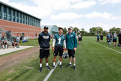 A Group Photo of the Kicker who attended the Philadelphia Eagles NFL football rookie camp at the teams practice facility on Saturday, May 17, 2014. (Photo by Brian Garfinkel)