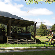 Competitors in action in the Paradise Triathlon and Duathlon series, Paradise, Glenorchy, South Island, New Zealand. 18th February 2012. Photo Tim Clayton