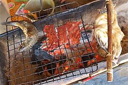 Fish, Deer & Chicken Meat In Local Restaurant