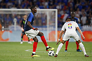 Paul Pogba of France and Joe Corona of USA during the 2018 Friendly Game football match between France and USA on June 9, 2018 at Groupama stadium in Decines-Charpieu near Lyon, France - Photo Romain Biard / Isports / ProSportsImages / DPPI