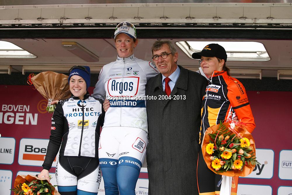 Energieswacht Tour stage 2 Veendam, Kirsten Wild wins her second stage, Chloe Hosking 2nd and Adrie Visser 3th