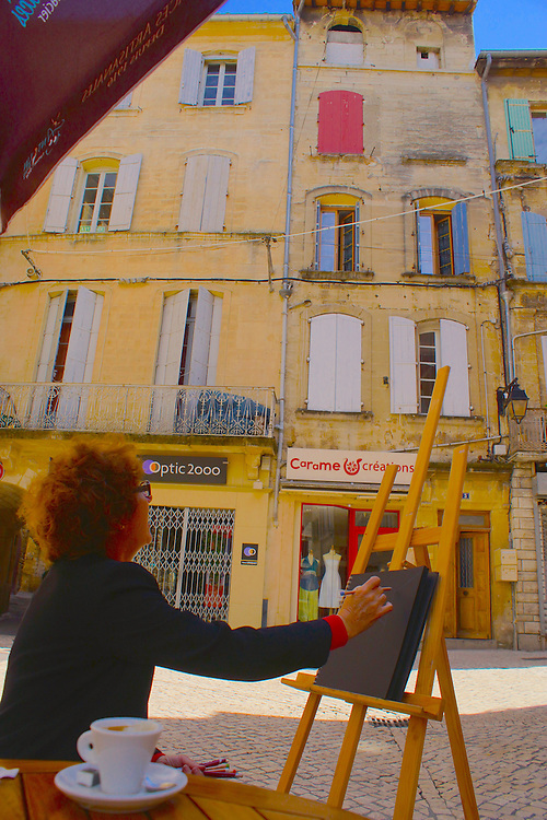 Southern France, Sommieres, South of France, Medieval Village, Plein Air Artist