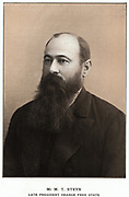 Martinus Theunis Steyn (1857-1916) South African statesman. President or Orange Free State from 1896. Joined with the Transvaal against Britain during the  Boer Wars (1889-1902).