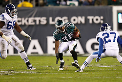 Philadelphia Eagles running back LeSean McCoy #25 carries the ball during the NFL Game between the Indianapolis Colts and the Philadelphia Eagles. The Eagles won 26-24 at Lincoln Financial Field in Philadelphia, Pennsylvania on Sunday November 7th 2010. (Photo By Brian Garfinkel)
