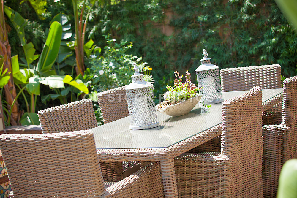 Rattan Outdoor Patio Dining Table