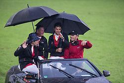 Team Switzerland<br /> Werner Muff, Paul Estermann, Steve Guerdat, Pius Schwizer<br /> CHIO Aachen 2012<br /> © Dirk Caremans
