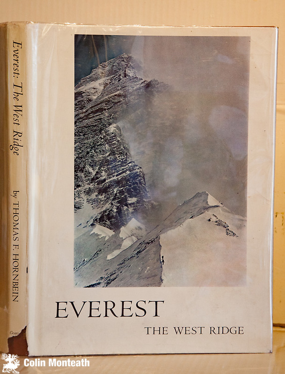 EVEREST - THE WEST RIDGE - Tom Hornbein, George Allen & Unwin, London, 1966. First UK Edn: of the famous Sierra Club Publication celebrating the 1963 American ascent of Chomolungma's West ridge via Hornbein couloir accessed from Nepal...led by Norman G. Dyhrenfurth Large format with stunning super glossy plates, each with 2-3 page essay. Two UK Edn copies available both in VG+ condition and VG dustjackets.  $NZ140