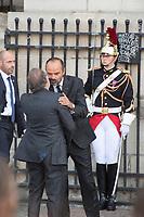Olivier Dassault _Edouard Philippe Obsèques de Jacques Chirac Lundi 30 Septembre 2019 église Saint Sulpice Paris