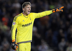 Dorus de Vries of Nottingham Forest - Mandatory byline: Paul Terry/JMP - 07966386802 - 07/08/2015 - FOOTBALL - Falmer Stadium -Brighton,England - Brighton v Nottingham Forest - Sky Bet Championship