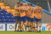 GOAL 2 -1 Nicky Maynard of Mansfield Town (22) scores during the The FA Cup match between Mansfield Town and Dagenham and Redbridge at the One Call Stadium, Mansfield, England on 29 November 2020.