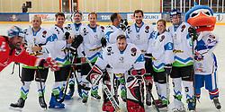 White team and Bostjan Fon as imposter at Poslovilna tekma Tomaza Razingarja, on July 16, 2016 in Ledna dvorana, Bled, Slovenia. Photo by Gregor Podrekar / Sportida
