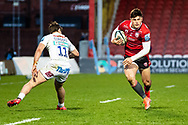 Louis Rees-Zammit of Gloucester Rugby during the Gallagher Premiership Rugby match between Gloucester Rugby and Exeter Chiefs at the Kingsholm Stadium, Gloucester, United Kingdom on 26 March 2021.