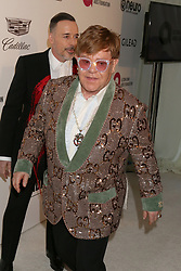 February 24, 2019 - West Hollywood, CA, USA - LOS ANGELES - FEB 24:  Elton John at the Elton John Oscar Viewing Party on the West Hollywood Park on February 24, 2019 in West Hollywood, CA (Credit Image: © Kay Blake/ZUMA Wire)