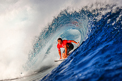 Jun 15, 2017 - Tavarua, Fiji - JULIAN WILSON of Australia advances to the quarterfinals of the Outerknown Fiji Pro after defeating I. Ferreira of Brazil in Heat 1 of Round Five in excellent Cloudbreak conditions. (Credit Image: © Ed Sloane/WSL via ZUMA Wire/ZUMAPRESS.com)