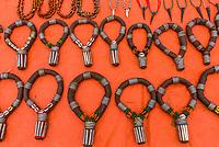 Tribal jewelry, Hamer tribe weekly market in Turmi, Omo Valley, Ethiopia.