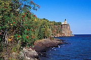 Afternoon light on Split Rock Lighthouse from the north shore of Lake Superior, Split Rock Lighthouse State Park, Minnesota