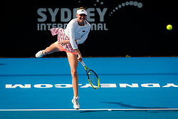 January 8, 2019 - Sidney, AUSTRALIA - Aliaksandra Sasnovich of Belarus in action during the first round of the 2019 Sydney International WTA Premier tennis tournament (Credit Image: © AFP7 via ZUMA Wire)