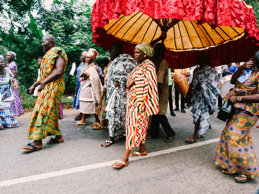 Yam Festival Procession by Bernadette Young