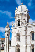 Church of Santa Maria, Monastery of Jeronimos - Mosteiro  dos Jeronimos in Lisbon, Portugal