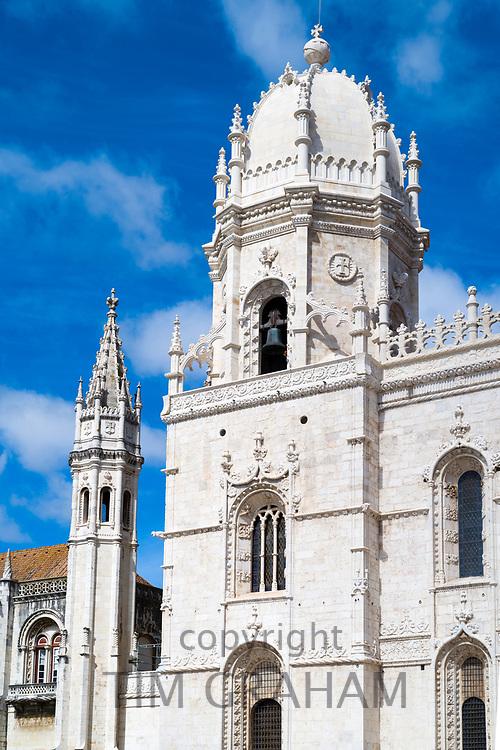 Church of Santa Maria, Monastery of Jeronimos - Mosteiro  dos Jeronimos in Lisbon, Portugal