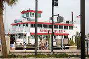 Show Queen tour boat traveling the Gulf waterways.  Clearwater Beach Tampa Bay Area Florida USA