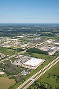 Aerial photograph of Grafton, Wisconsin on a beautiful summer day.