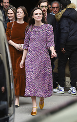 Keira Knightley & James Righton are seen at the Chanel Fashion show in Paris. 06 Mar 2018 Pictured: Keira Knightley, James Righton. Photo credit: Neil Warner/MEGA TheMegaAgency.com +1 888 505 6342