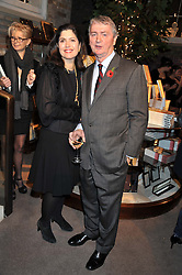 STEPHEN & KIMBERLEY QUINN at a party to celebrate the launch of Carol Woolton's book 'Drawing Jewels For Fashion' held at Asprey, 167 New Bond Street, London W1 on 10th November 2011.