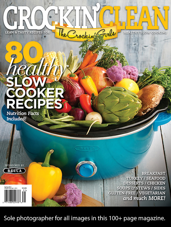 Food Photography tear sheet, magazine cover. Advertising and editorial photography for chefs, cookbooks, magazine, publishers,  manufacturers, and corporate solutions