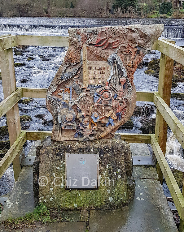 One of the Bamford Touchstones - a millenium sculpture/walking trail project