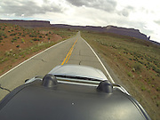SHOT 5/7/16 9:50:48 AM - GoPro footage and stills of the Mag 7 trail, Fisher Towers and the bike trail along Highway 128 in Moab. Moab is a city in Grand County, in eastern Utah, in the western United States. Moab attracts a large number of tourists every year, mostly visitors to the nearby Arches and Canyonlands National Parks. The town is a popular base for mountain bikers and motorized offload enthusiasts who ride the extensive network of trails in the area. (Photo by Marc Piscotty / © 2016)
