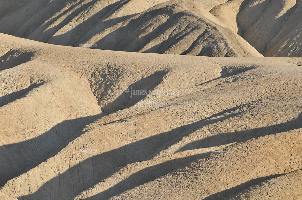 Zabriski Point with the Late Afternoon Light. Death Valley National Park California