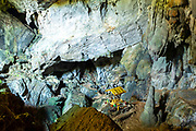 Interior view of the famous Tham Phoukam Caves near Vang Vieng, Laos.