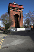 Jumbo water tower, Colchester, Essex, England. England's largest Victorian water tower is a famous landmark in the town centre of Colchester.