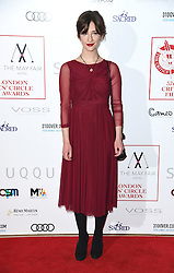 Sofia Safonova arriving at the London Film Critics Circle Awards 2017, the May Fair Hotel, London.