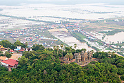 Aerial view of  Phnom Krom, south of Siem Reap, Cambodia.