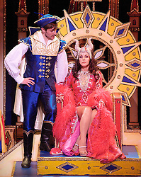 James Austen-Murray as Prince, Priscilla Presley as Wicked Queen..Snow White and the seven dwarfs, New Wimbledon Theatre, London, Great Britain, December 6, 2012.  2012. Photo by Elliott Franks / i-Images.