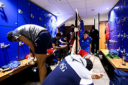 Bristol Flyers changing room at Sheffield Sharks - Photo mandatory by-line: Robbie Stephenson/JMP - 29/03/2019 - BASKETBALL - English Institute of Sport - Sheffield, England - Sheffield Sharks v Bristol Flyers - British Basketball League Championship