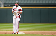 CHICAGO - SEPTEMBER 29:  Jose Abreu #79 of the Chicago White Sox hits an RBI double against the Detroit Tigers on September 29, 2019 at Guaranteed Rate Field in Chicago, Illinois.  (Photo by Ron Vesely)  Subject:   Jose Abreu