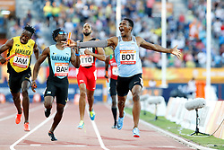 Botswana's Isaac Makwala (right) celebrates winning gold in the Men's 4 x 400m Relay Final at the Carrara Stadium during day ten of the 2018 Commonwealth Games in the Gold Coast, Australia.