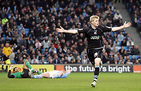 Photo: Paul Thomas.<br />Manchester City v Scunthorpe United. The FA Cup.<br />07/01/2006.<br />Scunthorpe's Andy Keogh celebrates his goal.